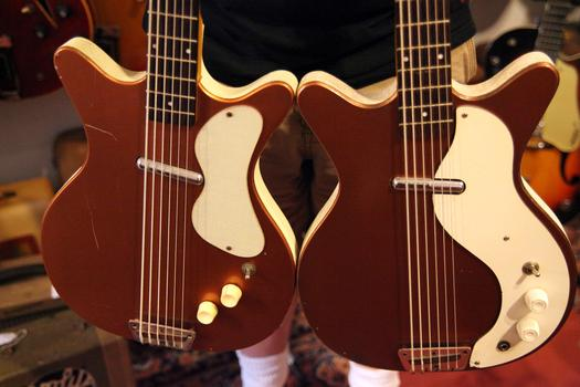 Danelectro guitars with pickups made out of lipstick tubes.