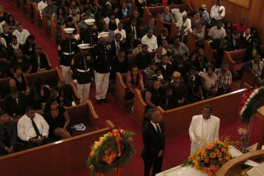 Rev. Al Sharpton delivered the eulogy.