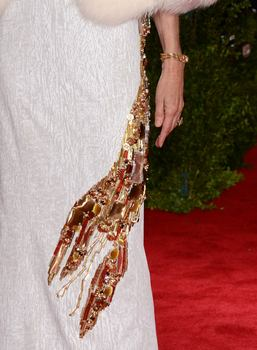 Wintour's dress included a lobster made of jewels.