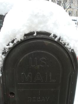 Despite the snow, the USPS says there will be mail delivery in Crown Heights, Brooklyn on January 27, 2011.