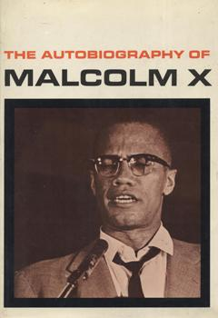 The first-edition hardcover of <em>The Autobiography of Malcolm X</em>, published in 1965 by Grove Press.