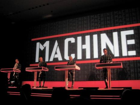 "The man-machine performs ""Man-Machine."""