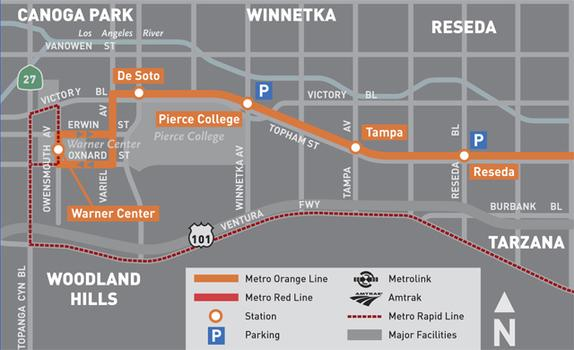 "Metro Orange Line. ""The Valley's new shortcut\""."