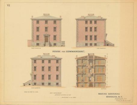 Plans for the commandant's house.