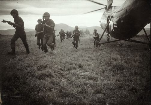 Marines with a Helicopter. Vietnam, c. 1960