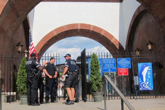 Stepped up police presence at McCarren pool after two incidents in the first days after opening