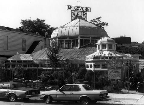 McGovern-Weir Greenhouse, formerly Weir Greenhouse, 1895. Southwest corner of Fifth Avenue and 25th Street, Brooklyn