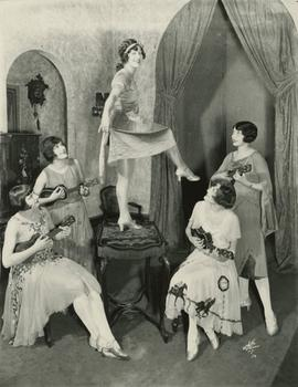 "Female chorus as ""Nanette's Friends"" in the original production of ""No, No, Nanette"" (1925), as dressed by Sally Milgrim"