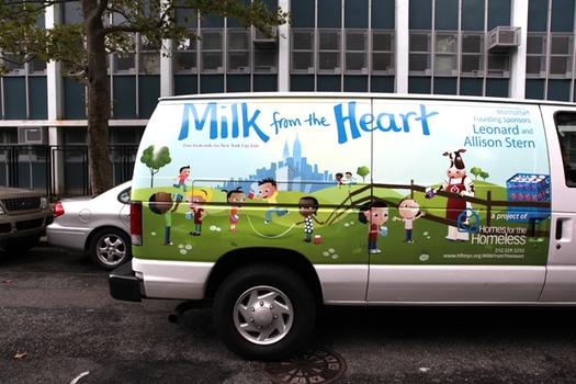 The Milk from the Heart van.