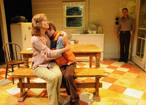 """Another New Georges production: """"Milk,"""" written by Emily DeVoti and directed by Jessica Bauman, was produced in 2010. Seen here, Jordan Baker, Noah Robbins and Peter Bradbury."""