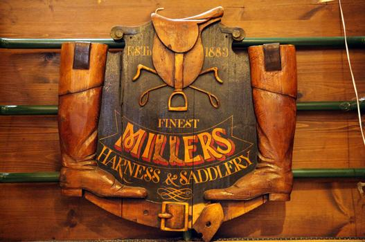 The old Miller Harness Company Sign.