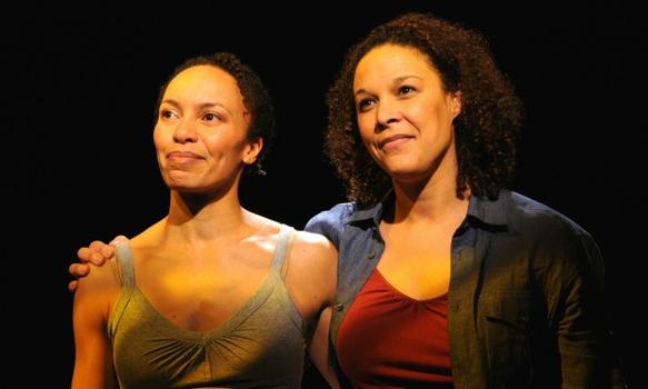 "New Georges produced ""Angela's Mixtape,"" written by Eisa Davis and directed by Liesl Tommy in 2009. Pictured here: Eisa Davis and Linda Powell."