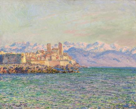 """Antibes, le fort"" by Claude Monet sold for over $9 million on Wednesday night."