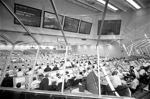 Engineers working in the launch control center, July 16, 1969. (NASA)