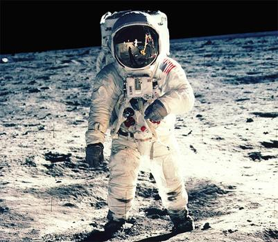 Astronaut Buzz Aldrin on the Moon. (NASA)