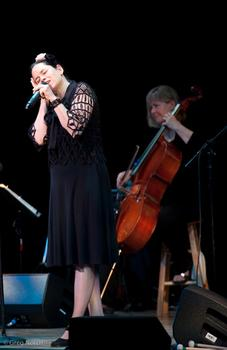 Sultry Natalie Merchant played at Town Hall on July 15th.