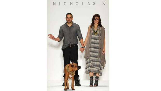 September 9, DAY 1: Nicholas K closes his show with a trip down the runway on opening day of Fashion Week.