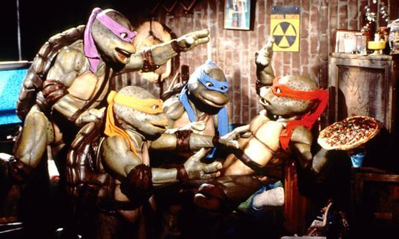 """Did somebody say pizza?"" Steve Barron directed ""Teenage Mutant Ninja Turtles"" in 1990, which starred real people in mutant turtle costumes."