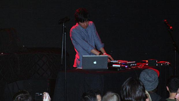 Nosaj Thing performed at Le Poisson Rouge in Greenwich Village on February 20.