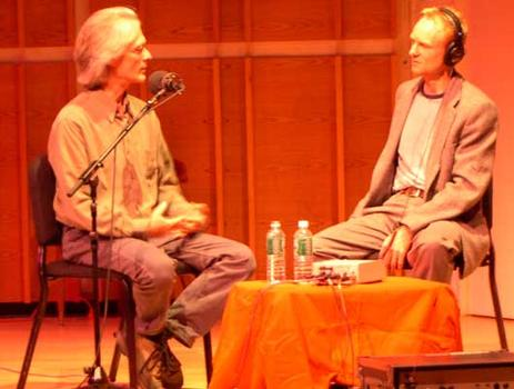 <strong>Composer Scott Johnson talks about the I.F. Stone settings with host John Schaefer, 9/28/04. </strong>