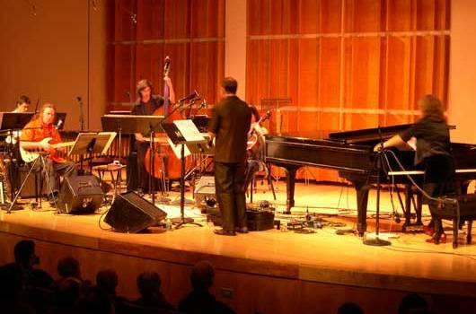 Pianist Vicky Chow performs with the Bang on a Can All Stars in Merkin Hall in 2005