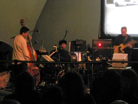 "<strong>Bill Frisell and trio accompany the silent film, ""Bombshell Bride"" 1/15/04.</strong>"