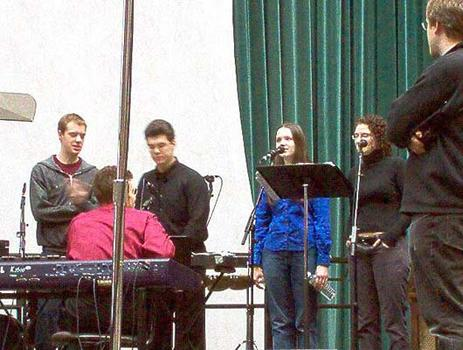 <strong>Members of Alarm Will Sound in rehearsal, 12/9/03.</strong>