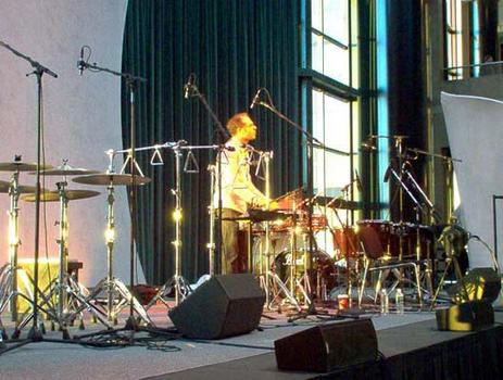 "<strong>Percussionist Steven Schick performs a section of John Luther Adams'  ""The Mathematics of Resonant Bodies,"" 11/20/03. </strong>"