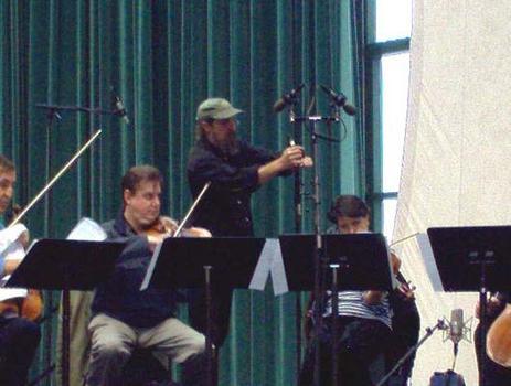 "<strong>Members of The Chilingirian String Quartet perform Sir John Tavener's ""The Bridegroom,"" 10/23/03.</strong>"