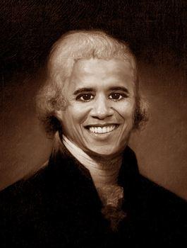 Jeff Yang suggests 'a dusky, but dainty Thomas Jefferson President Obama'