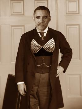 "Jeff Yang pictures President Obama as ""tanned, transgendered Teddy Roosevelt"""