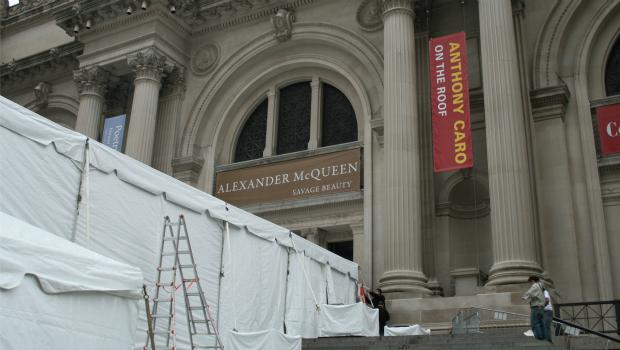 Setting the stage for the McQueen gala on Monday night.