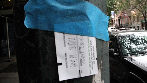 At a certain point, one begins to wonder: is it art? Or an expired parking meter ticket taped to a pole?