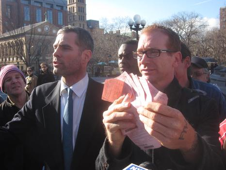 Geoffrey Croft, of NYC Park Advocates, with Colin Huggins