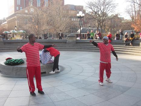 Street performers Tic and Tac, aka Kareem and Tyheem Barnes say their numerous summonses have been dismissed