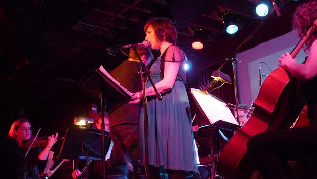 Sarah Kirkland Snider's Penelope (featuring Shara Worden) performed at the Bell House in Gowanus on April 3.