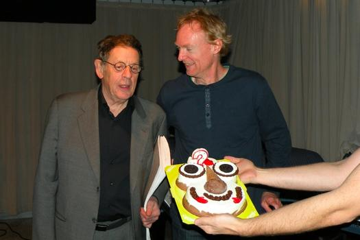 Philip Glass, John Schaefer... and Cookie Puss.