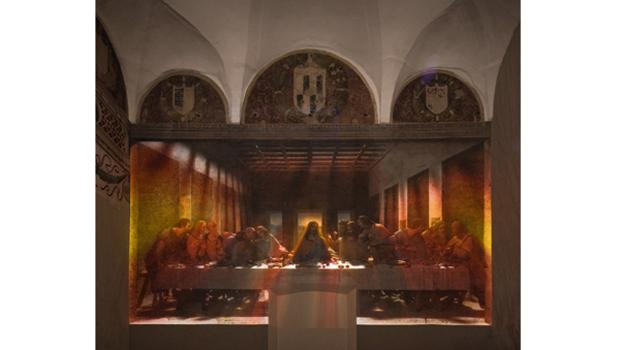 "Installation view of ""Leonardo's Last Supper: A Vision By Peter Greenaway,"" on view at the Park Avenue Armory from December 3, 2010, through January 6, 2011."