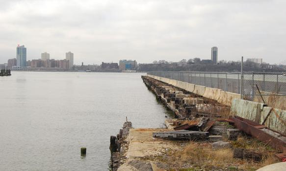 A view of New Jersey across the Hudson from the pier.