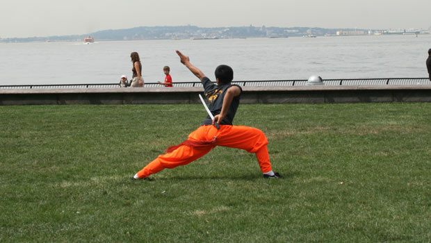 More images of the striking martial arts performance.