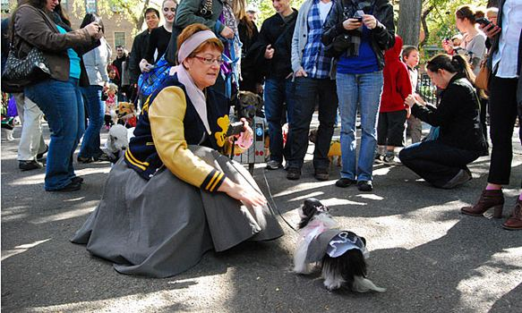 "Tempe and her owner were both wearing poodle skirts straight out of ""Grease."""