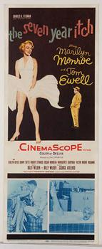 """The Seven Year Itch"" original 14"" x 36"" insert poster."
