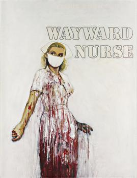 """Crashed (Wayward Nurse)"" was made between 2006 and 2010 by Richard Prince. It's expected to sell at Phillips de Pury for between $4 and $6 million."