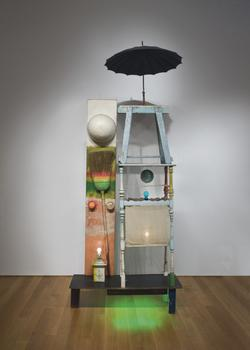 """The Tower,"" made by Robert Rauschenberg in 1957, will be auctioned off for $18 million at Christie's."