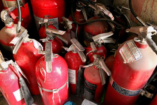 Fire extinguishers at Master Fire Protection.