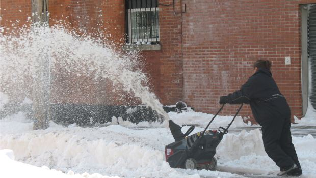 Red Hook, Brooklyn residents also clear the sidewalks of Brooklyn themselves.