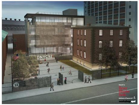 A rendering of the new Brooklyn Navy Yard museum.