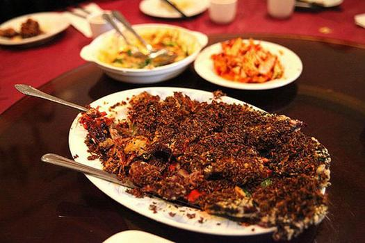 Barbecued ribs at Fu Run restaurant.