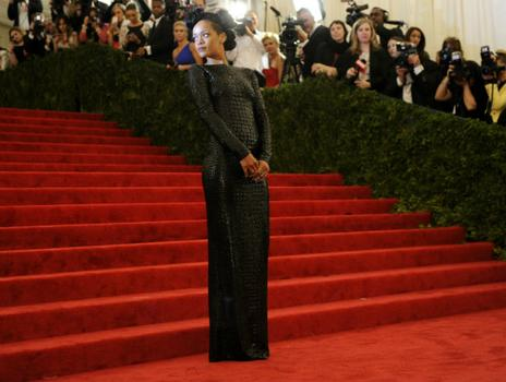 Rihanna wore Tom Ford to the gala but said she would be designing her own clothes soon.