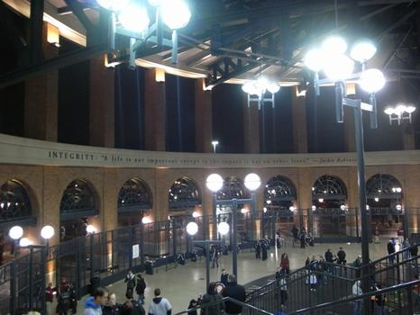 The Jackie Robinson Rotunda modeled on the one at Ebbets Field